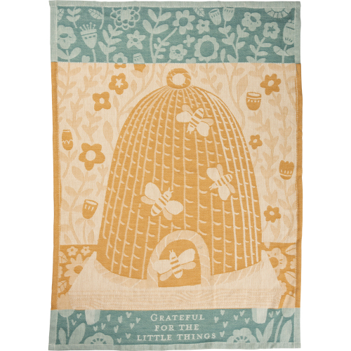 LTD QTY!  Beehive Jacquard Dishtowel