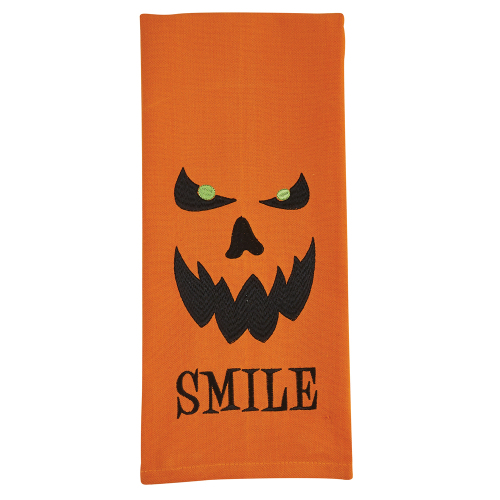 Smile Embroidered Towel
