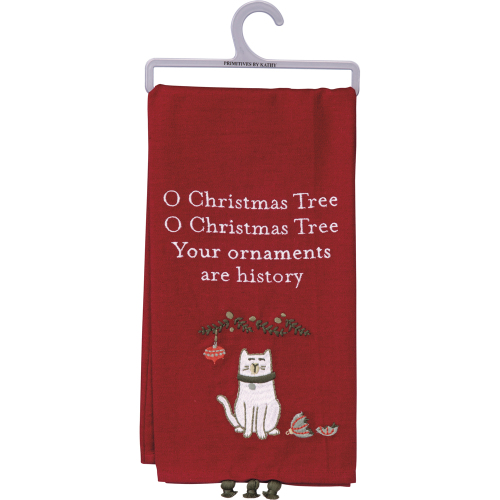 Your Ornaments Are History Dish Towel