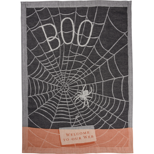 Boo Welcome To Our Web Dishtowel
