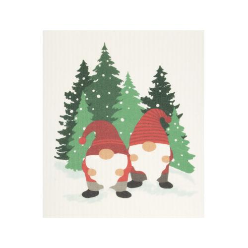 Snow Forest Gnome Swedish Sponge