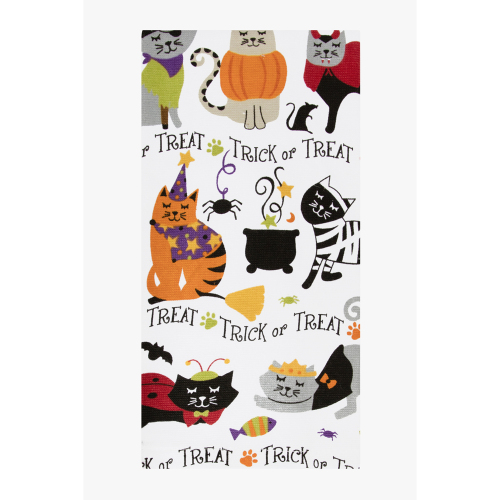 LTD QTY!  Halloween Kitties Kitchen Towel
