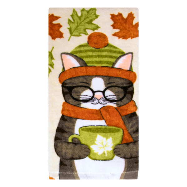 Harvest Kitty Kitchen Towel