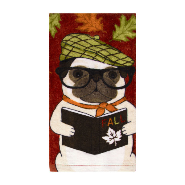 Harvest Pug Kitchen Towel