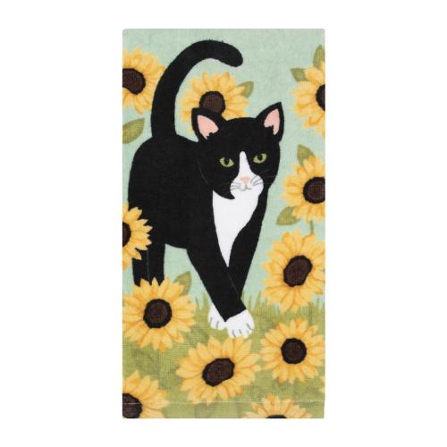 Sunflower Cat Towel
