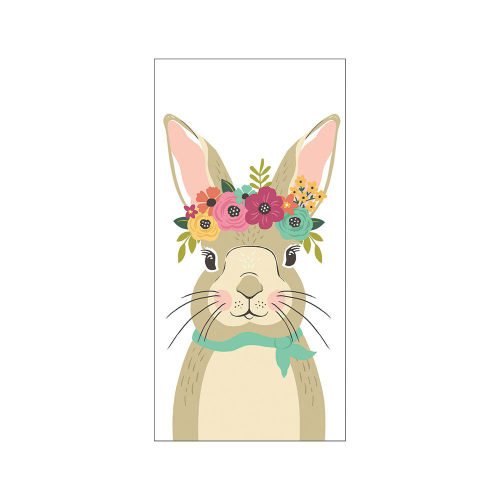 SALE!  Floral Rabbit Kitchen Towel