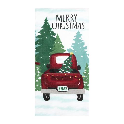 Christmas Tree Truck Towel