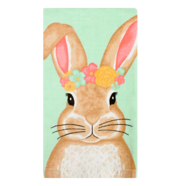 Bunny In Flower Crown Kitchen Towel