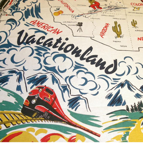 Vacationland USA Retro Tablecloth