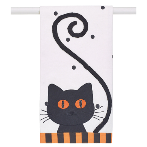 SALE!  Fuzzy Cat Tea Towel