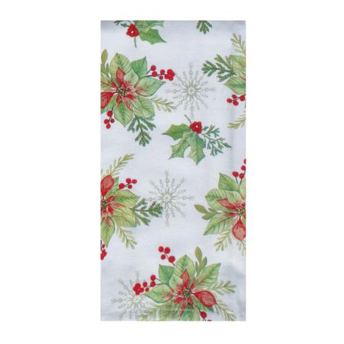 Winter Garden Floral Terry Towel