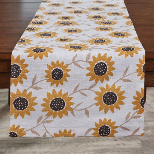 LTD QTY!  Sunflower Print Table Runner