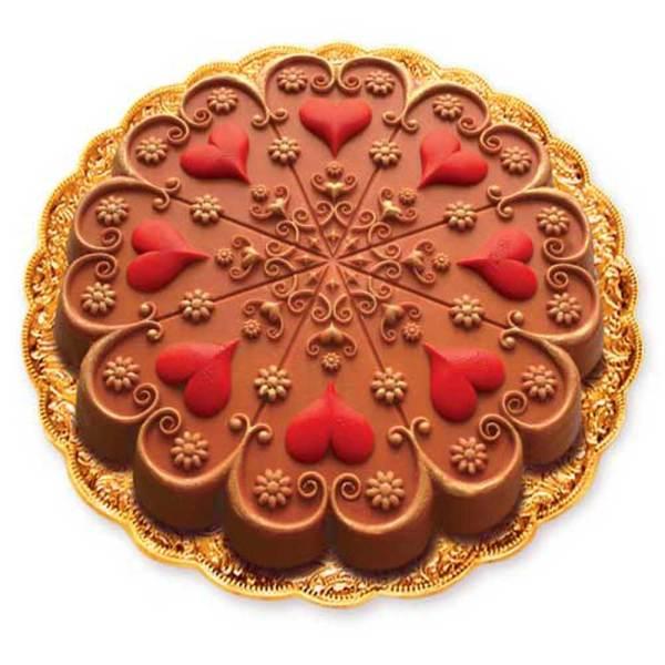 Kaleidoscope Heart Silicone Bakeware