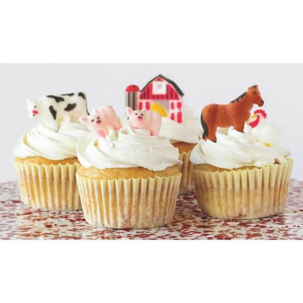 Farm Animals Sugar Decorations