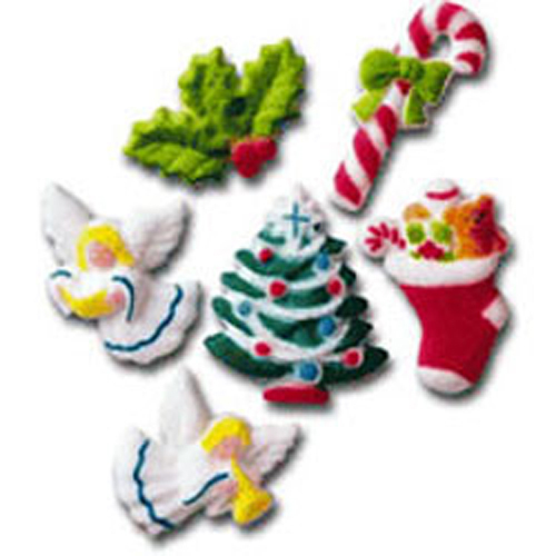 Deluxe Christmas Charm Sugar Decorations