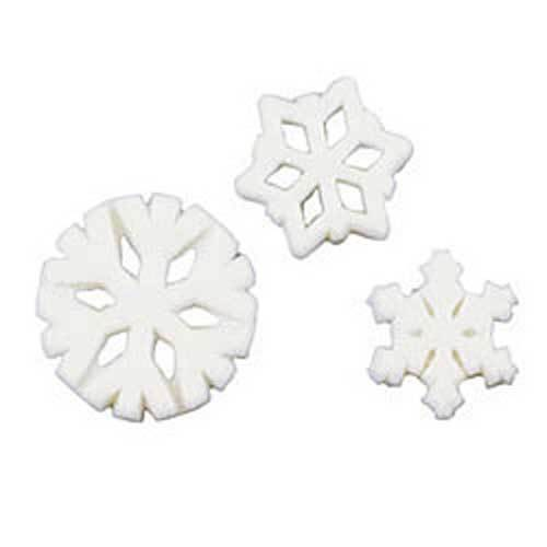 White Snowflake Sugar Decorations