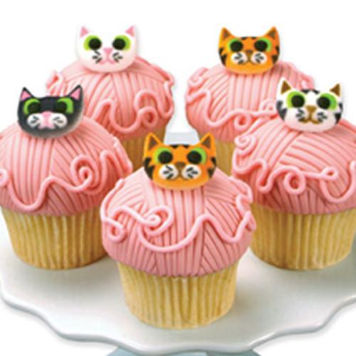 Cat Assortment Sugar Decorations