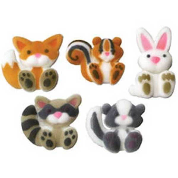 Woodland Animals Sugar Decorations
