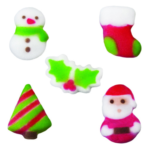 Assorted Christmas Cuties Sugar Decorations