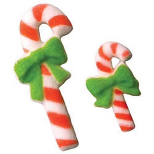 Candy Canes Large & Small Sugar Decorations