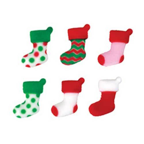Mini Stocking Sugar Decorations