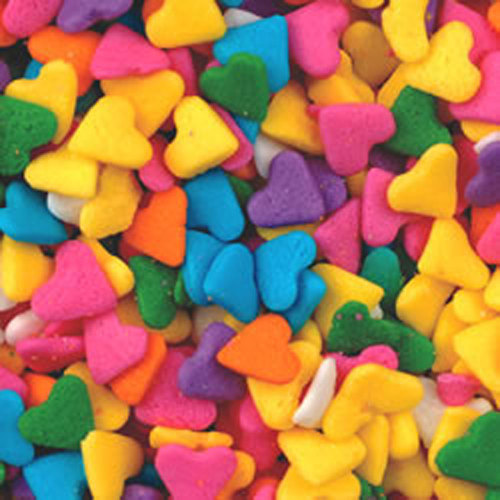 SALE!!  Rainbow Heart Sprinkles