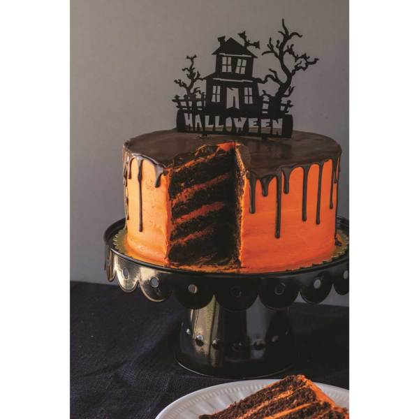 SALE!  Haunted House Acrylic Cake Topper