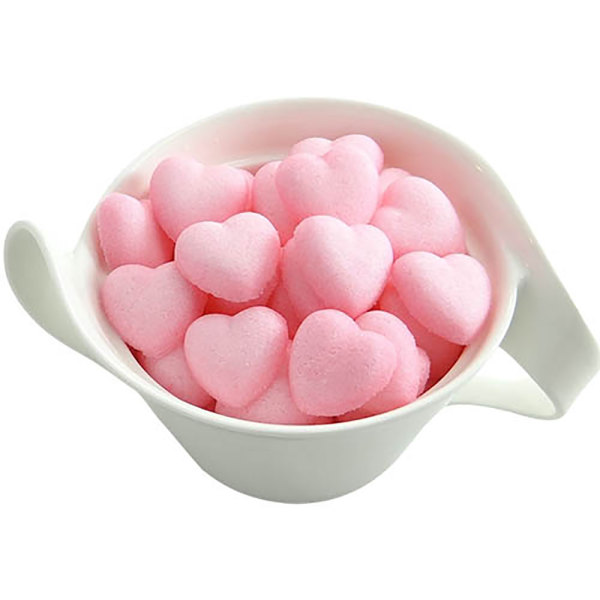 Pink Heart Sugar Shapes