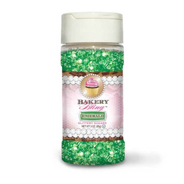 LTD QTY!  Emerald Glittery Sugar