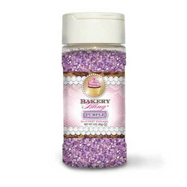 Purple Glittery Sugar