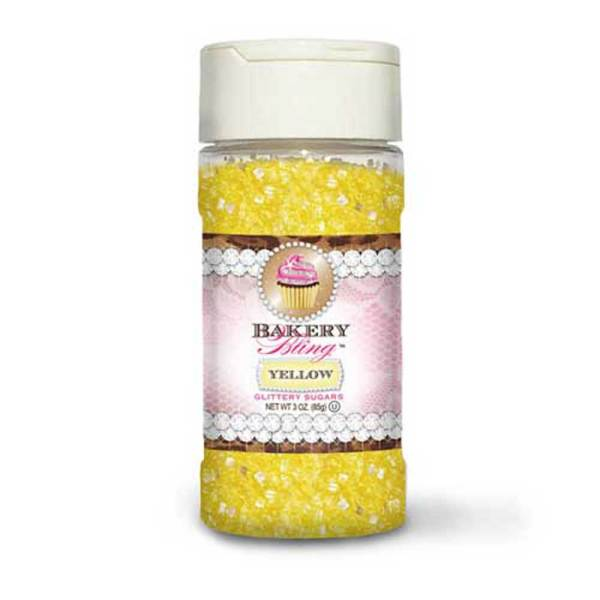 Yellow Glittery Sugar