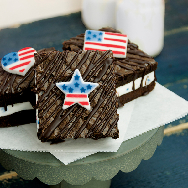 LTD QTY!  American Flag Sugar Decorations