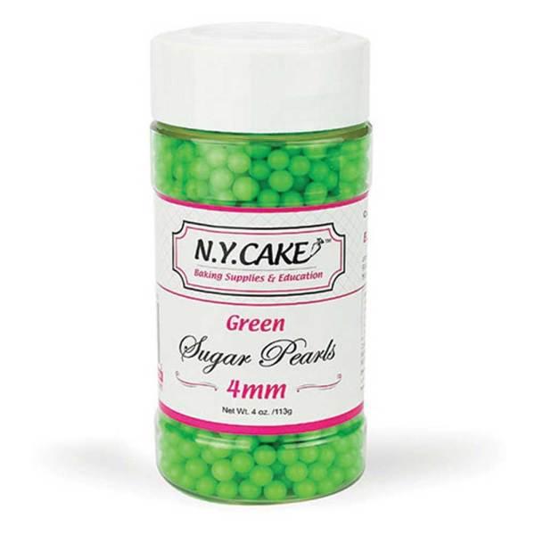 4mm Green Sugar Pearls