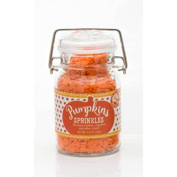LTD QTY!  Pumpkin Shaped Sprinkles