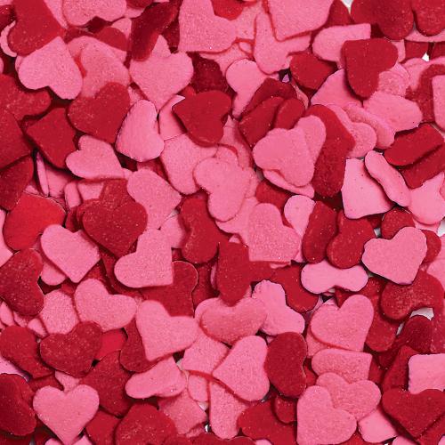 Red & Pink Jumbo Hearts Sprinkles