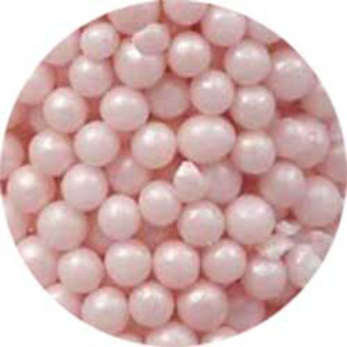 3mm Pink Pearlized Sugar Pearls
