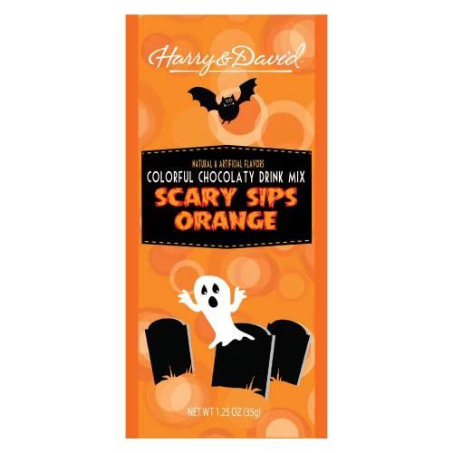 Scary Sips Orange Hot Chocolate Set of 4