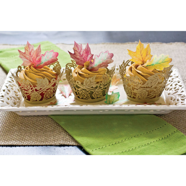 LTD QTY!  Autumn Leaves Cupcake Wrappers