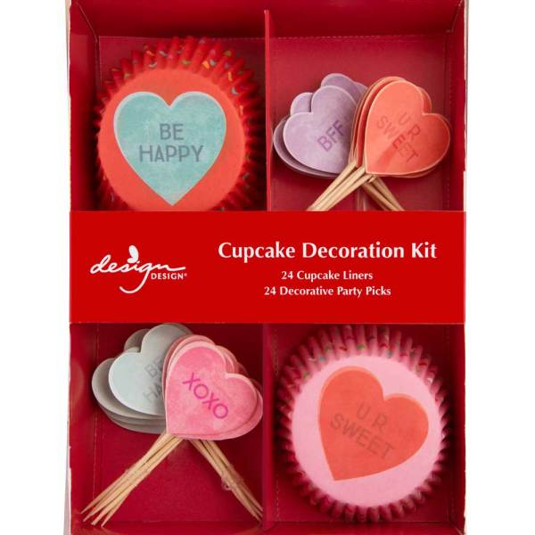 Candy Hearts Cupcake Decorating Kit