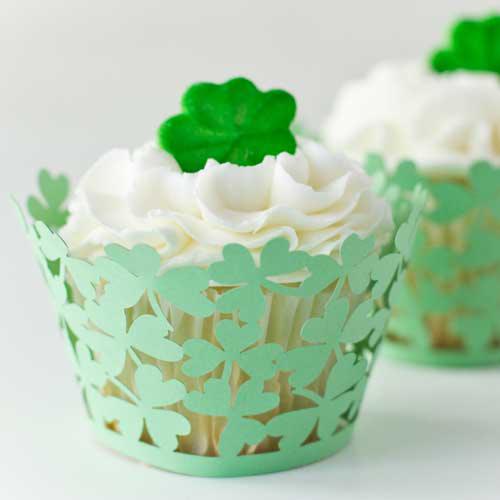 Shamrock Green Cupcake Wrapper