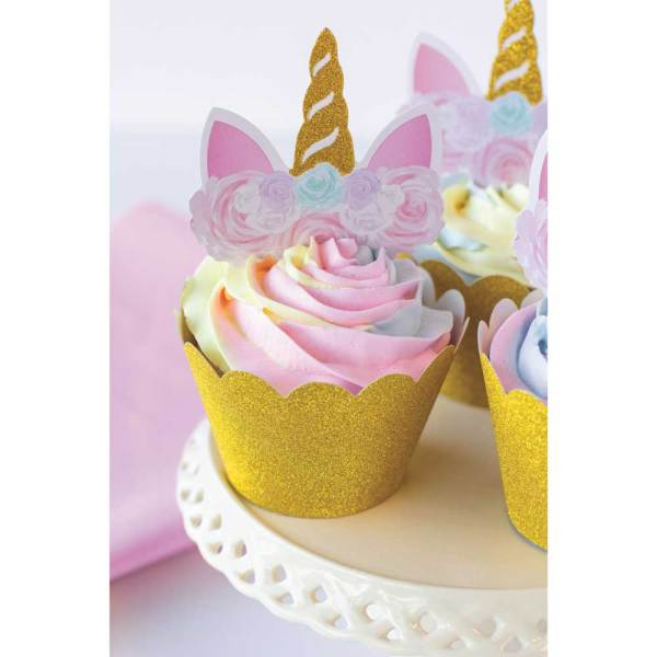Unicorn Cupcake Wrapper & Pick Set