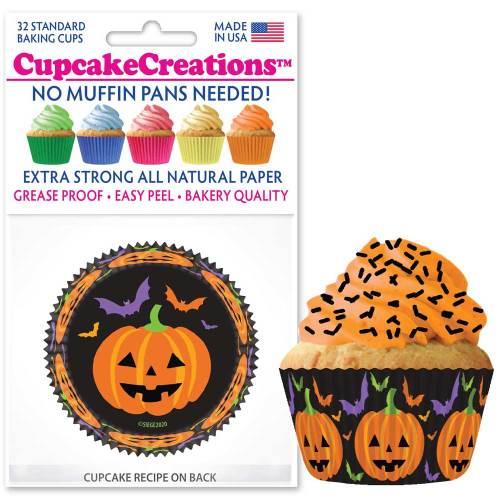 Happy Pumpkin Cupcake Liners
