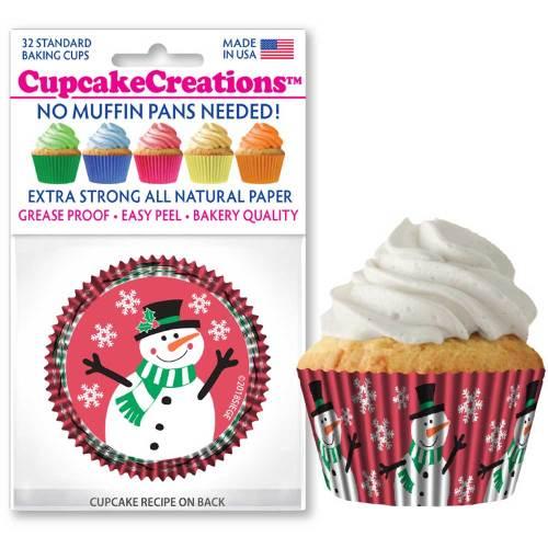 Playful Snowman Cupcake Liners