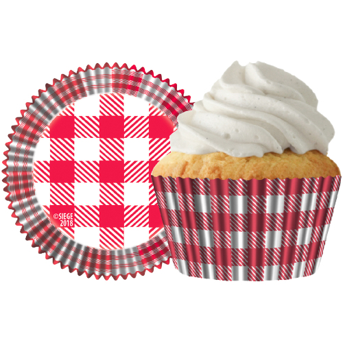 Red & White Plaid Cupcake Liner
