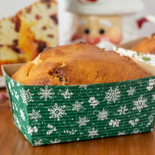 Green With White Snowflakes Loaf Pans