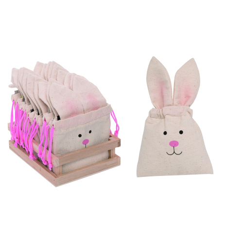 Mini Easter Bunny Fabric Treat Bag