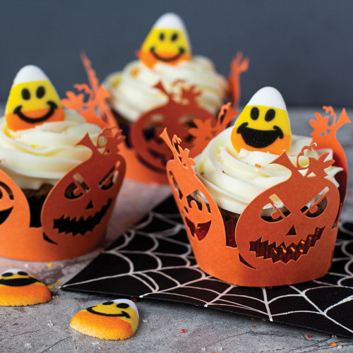 Jack-O-Lantern Cupcake Wrappers