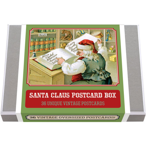 Santa Claus Postcard Box