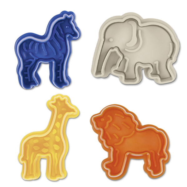 Zoo Animals Theme Cookie Stamp & Cutter Set