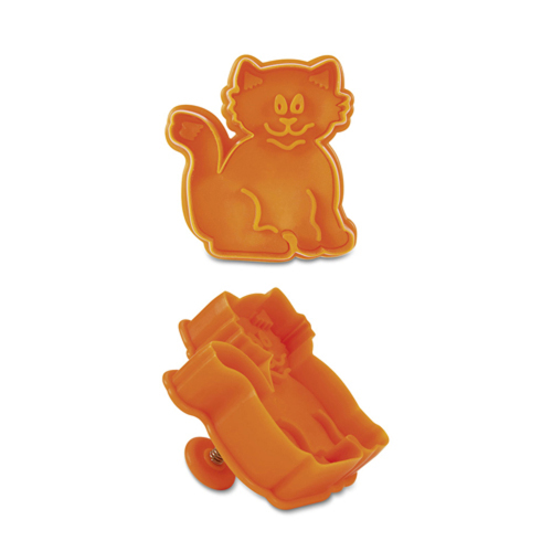 LTD QTY!  Kitty Cat Cookie Stamp & Cutter